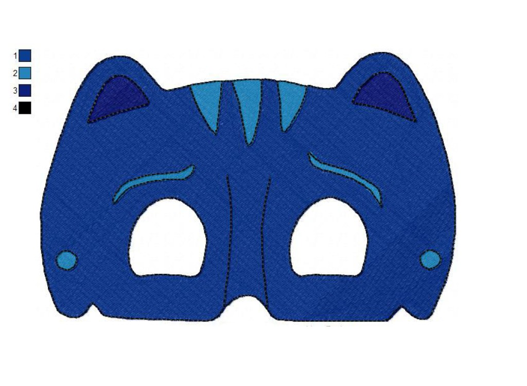 photo regarding Pj Masks Mask Printable named Encounter PJ Masks 02 With no Eyes Embroidery Structure