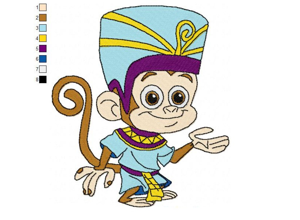 Fresh Beat Band of Spies Bo Monkey 01 Embroidery Design