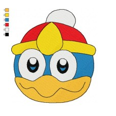 Head King Dedede Embroidery Design