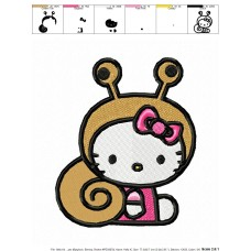 Hello Kitty 01 Embroidery Design