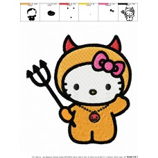 Hello Kitty 02 Embroidery Design
