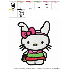 Hello Kitty 05 Embroidery Design