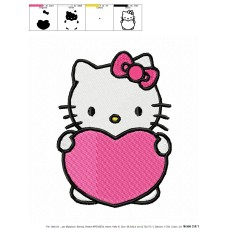 Hello Kitty 08 Embroidery Design