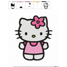 Hello Kitty 09 Embroidery Design