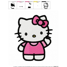Hello Kitty 11 Embroidery Design