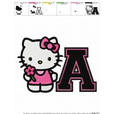 Hello Kitty 12 Embroidery Design