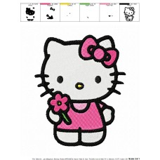 Hello Kitty 13 Embroidery Design