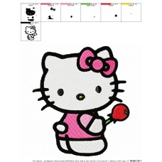 Hello Kitty 15 Embroidery Design
