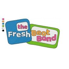 Logo Fresh Beat Band of Spies Embroidery Design