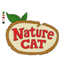 Logo Nature Cat Embroidery Design