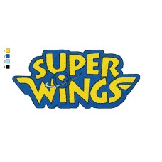 Logo Super Wings Embroidery Design
