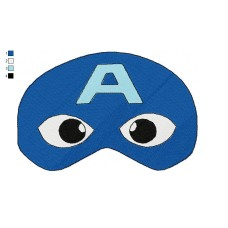 Mask Captain America Embroidery Design