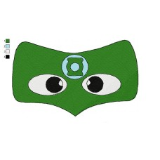 Mask Green Lantern Embroidery Design