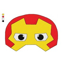 Mask Iron Man Embroidery Design