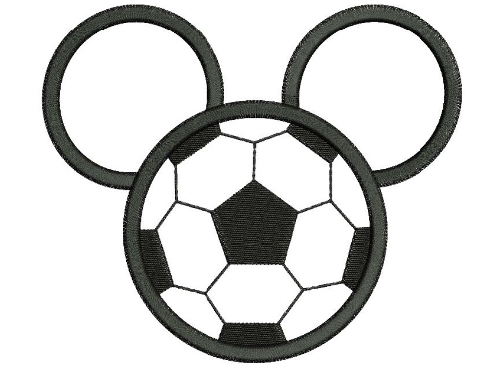 Mickey Mouse Football Applique Embroidery Design