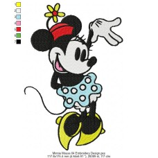 Minnie Mouse 04 Embroidery Design
