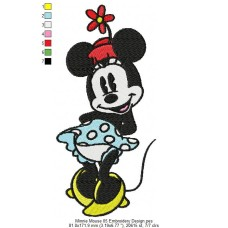 Minnie Mouse 05 Embroidery Design