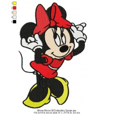 Minnie Mouse 08 Embroidery Design