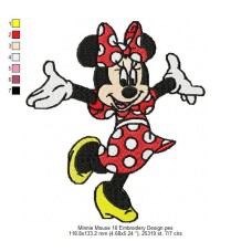 Minnie Mouse 10 Embroidery Design