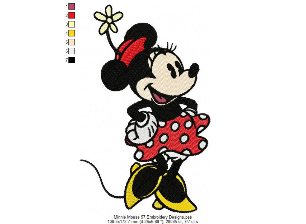 Minnie Mouse 57 Embroidery Designs