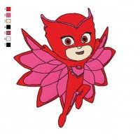 PJ Masks 04 Embroidery Design