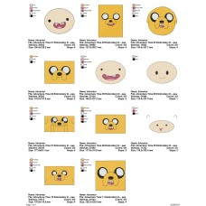Package 11 Adventure Time Embroidery Designs