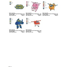 Package 5 Super Wings 01 Embroidery Designs