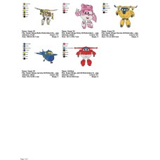 Package 5 Super Wings 02 Embroidery Designs
