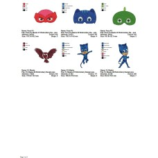 Package 6 PJ Masks 02 Embroidery Designs