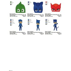 Package 6 PJ Masks 03 Embroidery Designs