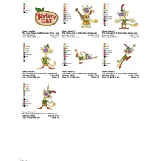 Package 7 Nature Cat Embroidery Designs
