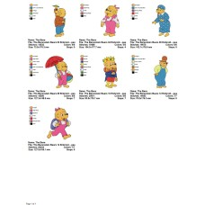 Package 7 The Berenstain Bears 02 Embroidery Designs