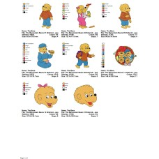 Package 8 The Berenstain Bears 01 Embroidery Designs