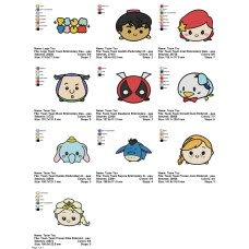 Package 10 Tsum Tsum 01 Embroidery Designs