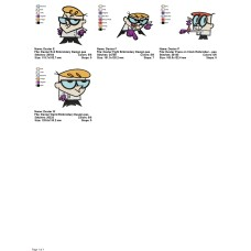 Package 4 Dexter Embroidery Designs