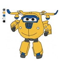Super Wings Donnie 02 Embroidery Design