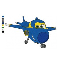 Super Wings Jerome 02 Embroidery Design