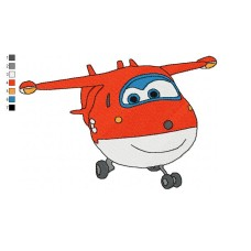 Super Wings Jett 01 Embroidery Design
