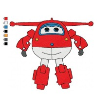 Super Wings Jett 02 Embroidery Design