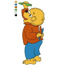 The Berenstain Bears 02 Embroidery Design