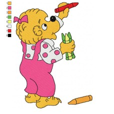 The Berenstain Bears 03 Embroidery Design