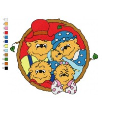 The Berenstain Bears 11 Embroidery Design