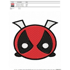 Tsum Tsum Deadpool Embroidery Design