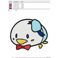 Tsum Tsum Donald Duck Embroidery Design