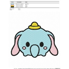 Tsum Tsum Dumbo Embroidery Design