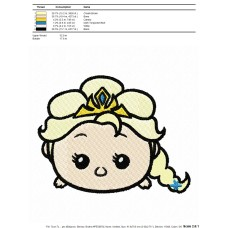 Tsum Tsum Frozen Elsa Embroidery Design