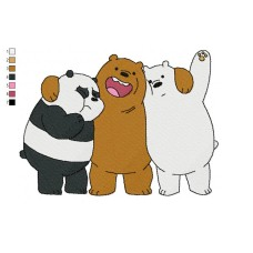 We Bare Bears 09 Embroidery Design