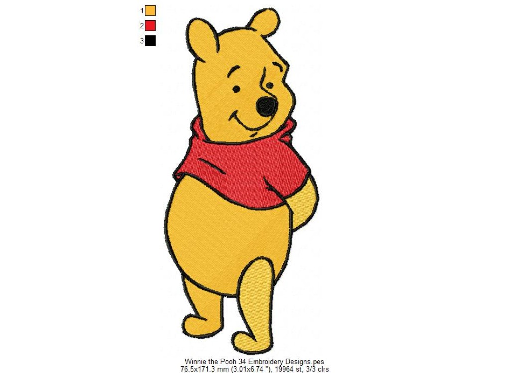Winnie The Pooh 34 Embroidery Designs