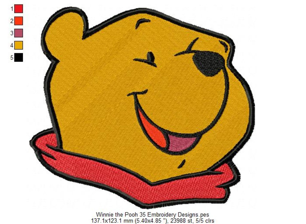 Winnie The Pooh 35 Embroidery Designs