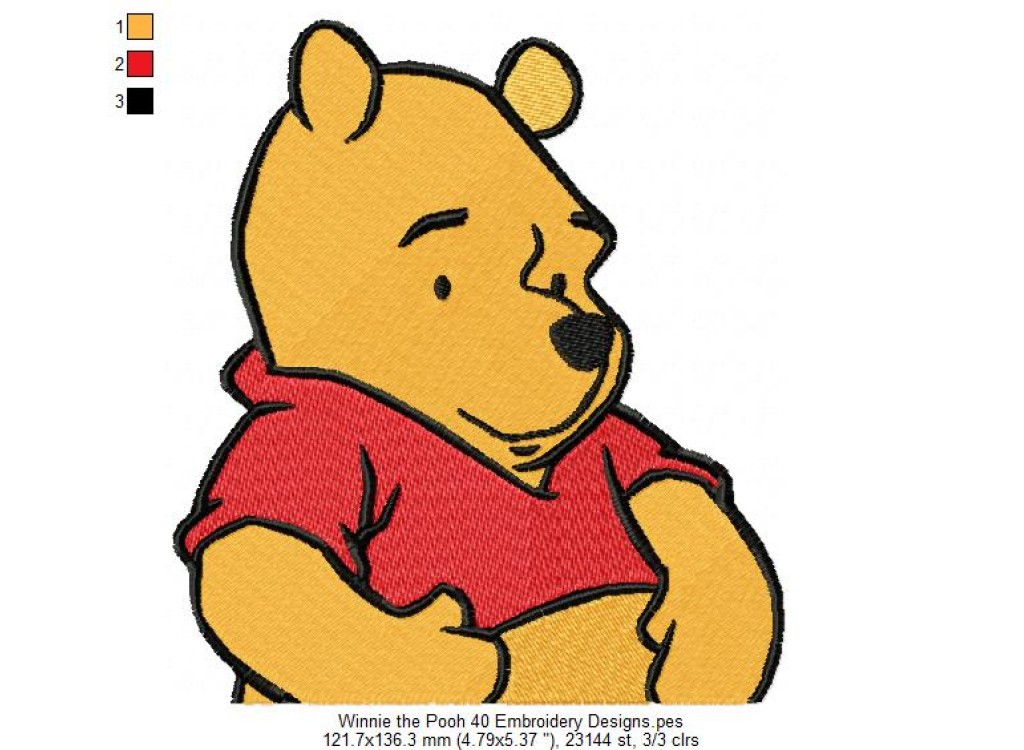 Winnie the Pooh 40 Embroidery Designs